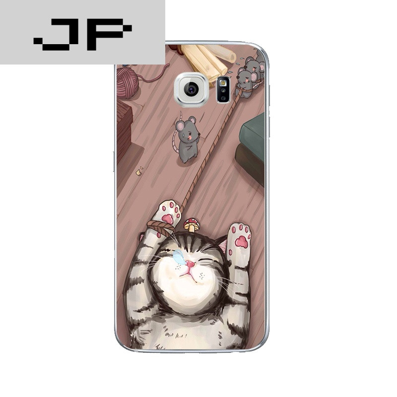 品牌三星/s6/edge/plus手机壳保护套个性原创日韩可爱猫咪硅胶软壳