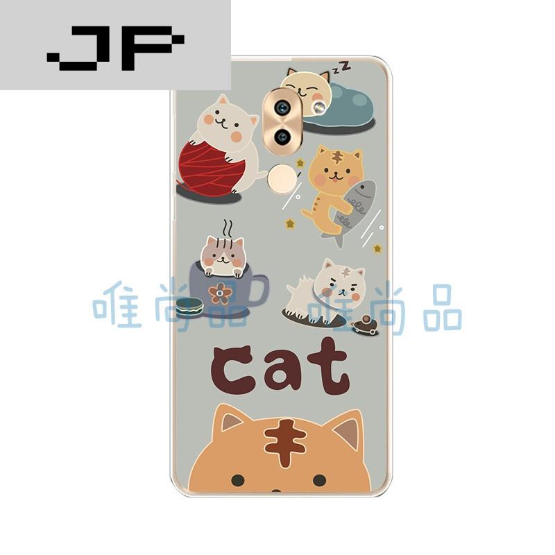 jp潮流品牌华为nova手机壳畅玩6x/note8手机套硅胶日韩个性可爱猫咪