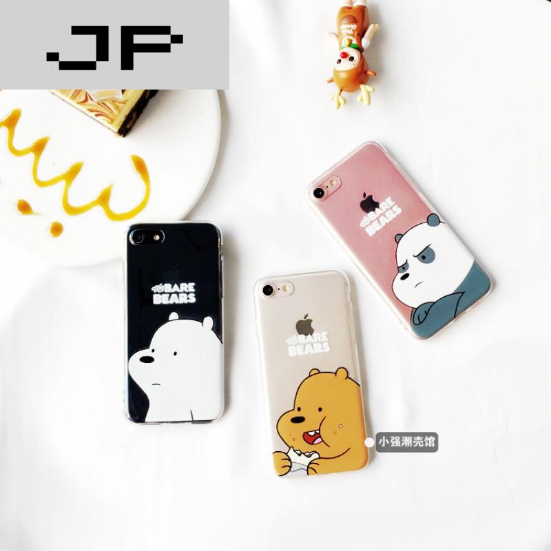 jp潮流品牌情侣可爱小熊苹果6s/7手机壳iphone6p/7plus超薄全包软壳保