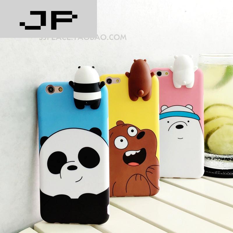 jp潮流品牌韩国立体趴趴熊oppor11手机壳oppor9s/r9/plus可爱卡通软壳