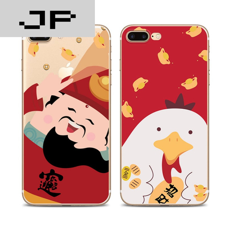 jp潮流品牌乐壳科技招财猫苹果6手机壳情侣5s保护套iphone7plus挂绳软