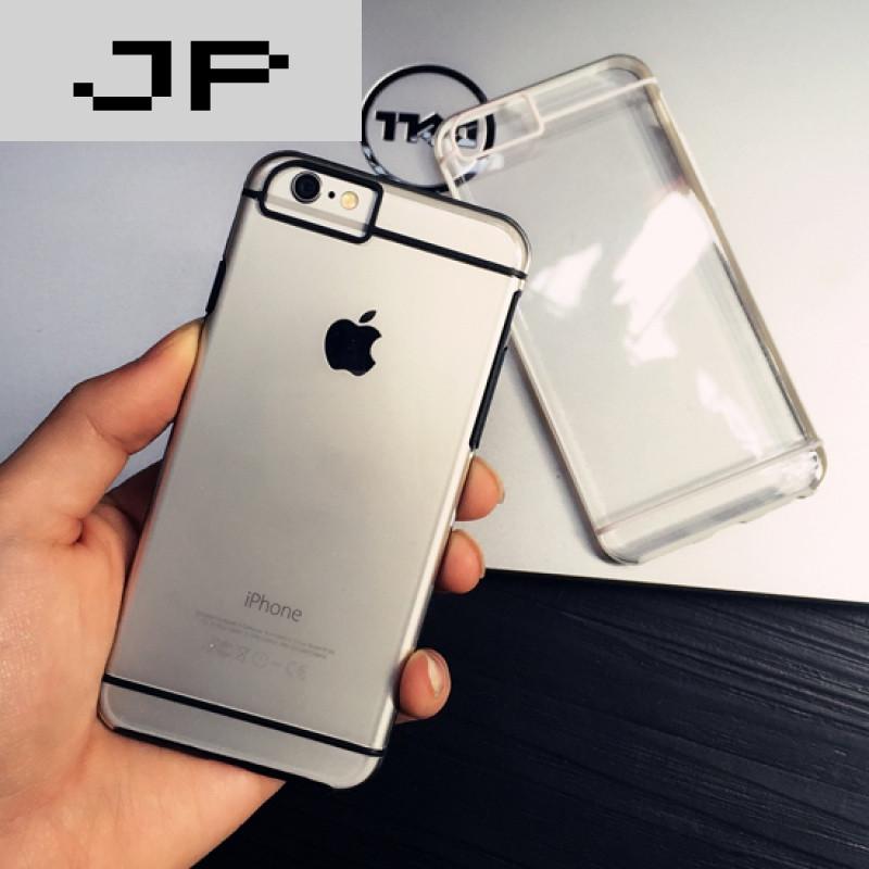 jp潮流硅胶港风iphone6plus手机壳线条5/6s苹果潮牌简约风透明壳品牌天津油压机图片