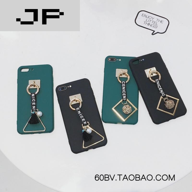 jp潮流品牌几何苹果iphone7手机壳女款7plus保护套黑色6splus简约6s个