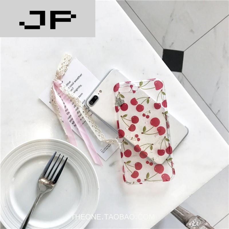 jp潮流品牌夏日小清新水果樱桃苹果6手机壳iphone7/6s/plus可爱女款