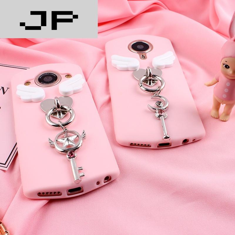 jp潮流品牌美图m6 手机壳美图4/m4s 美图t8/m8粉色美少女战士吊坠全包
