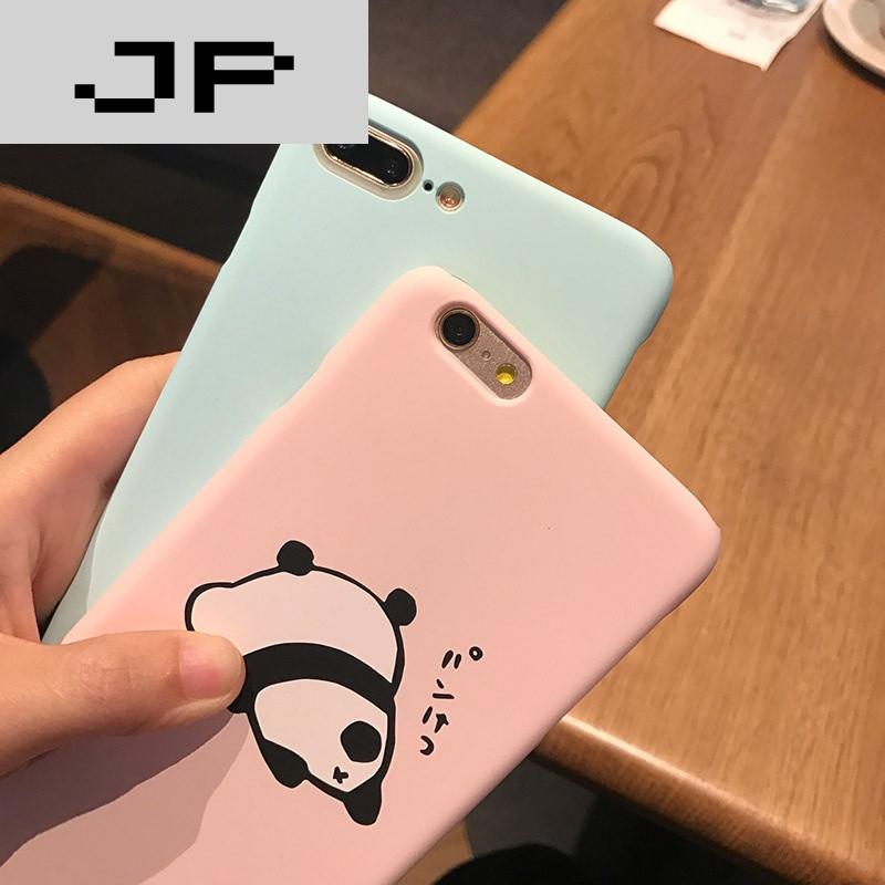 jp潮流品牌呆萌可爱小猪熊猫 苹果6手机壳iphone7/6s/7plus硬壳潮吊坠