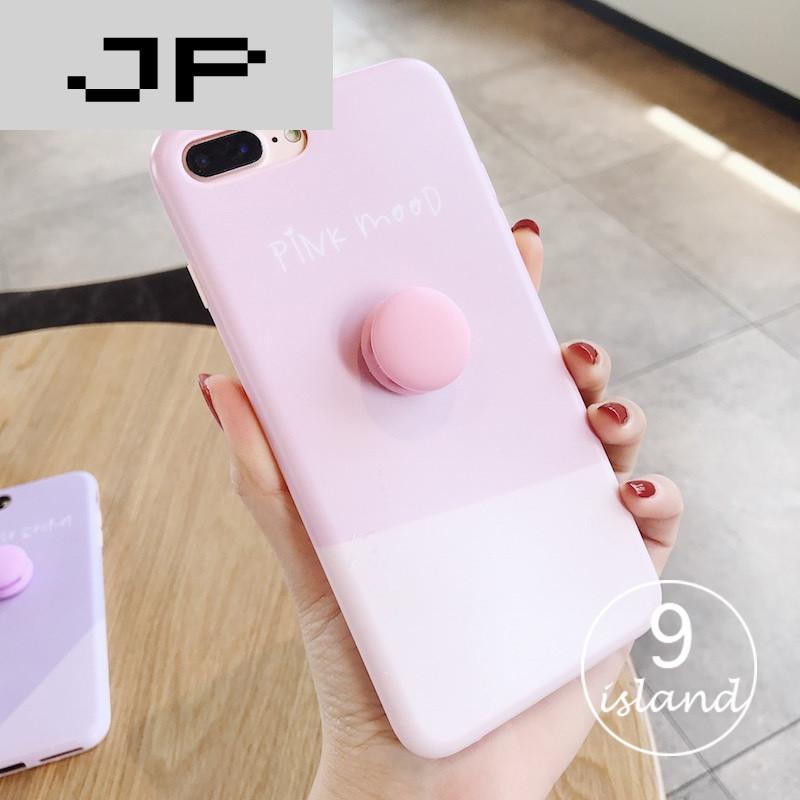 5小清新马卡龙苹果7plus手机套日韩