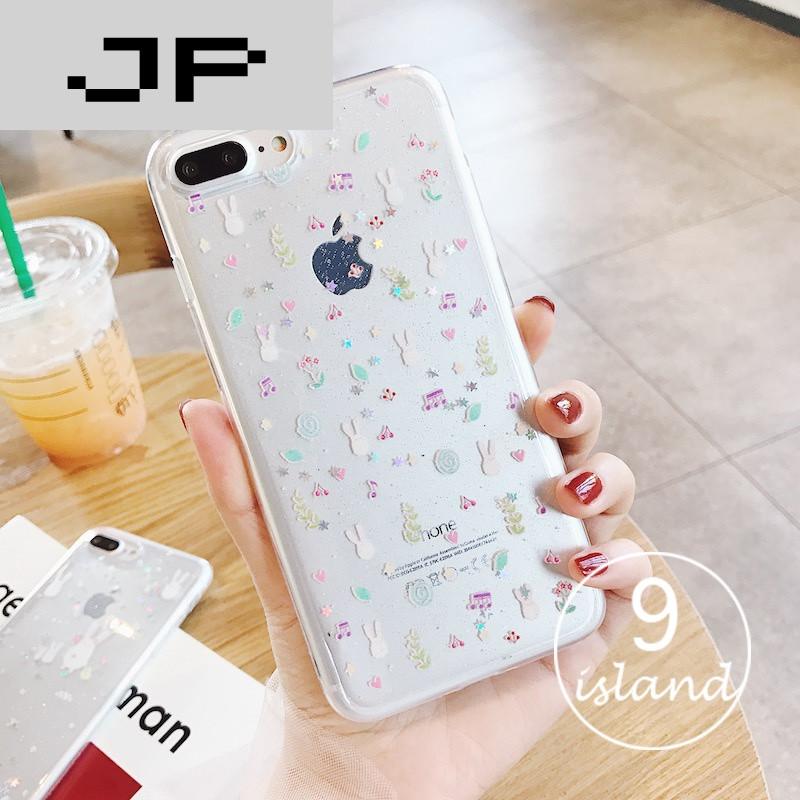 jp潮流品牌可爱小清新苹果7plus手机壳透明软壳5.