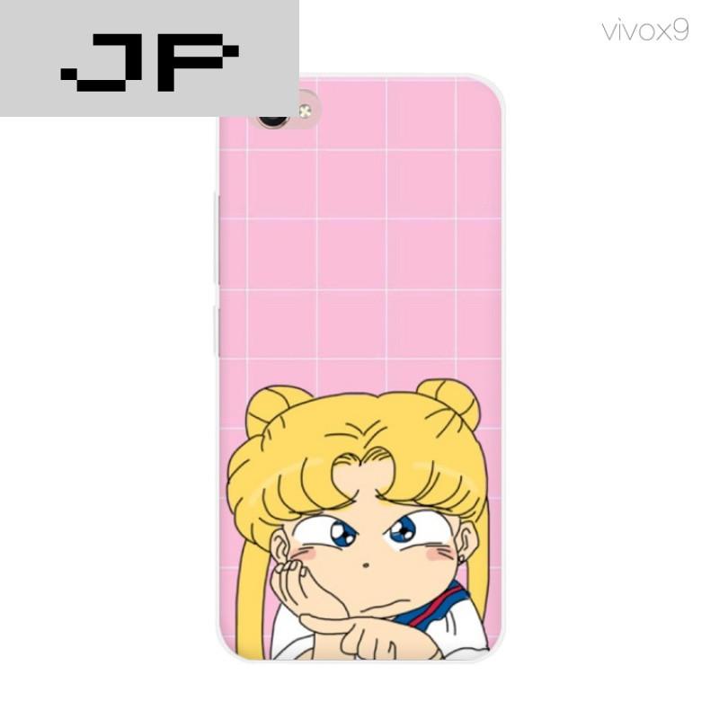 jp潮流品牌新款简约可爱美少女 x9手机壳步步高x7 x9plus硅胶防摔软壳