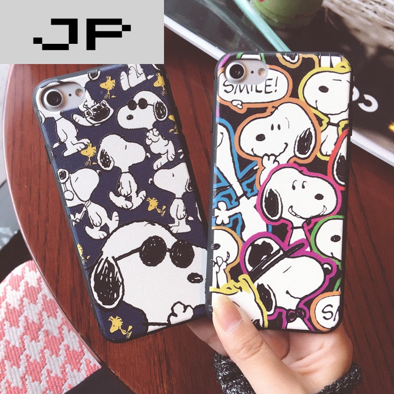 jp潮流品牌史努比iphone7手机壳7plus硅胶卡通可爱6p挂绳软壳苹果6s