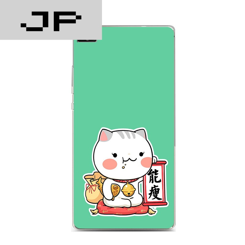 jp潮流品牌华为p8标准青春版手机壳v8超薄软壳可爱个性招财猫猫卡通