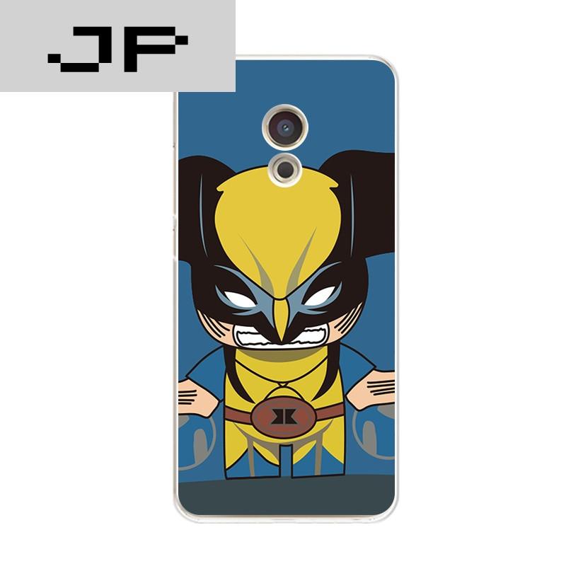 jp潮流品牌魅族魅蓝5手机壳魅蓝note5/x超薄软壳卡通可爱超人蝙蝠侠防