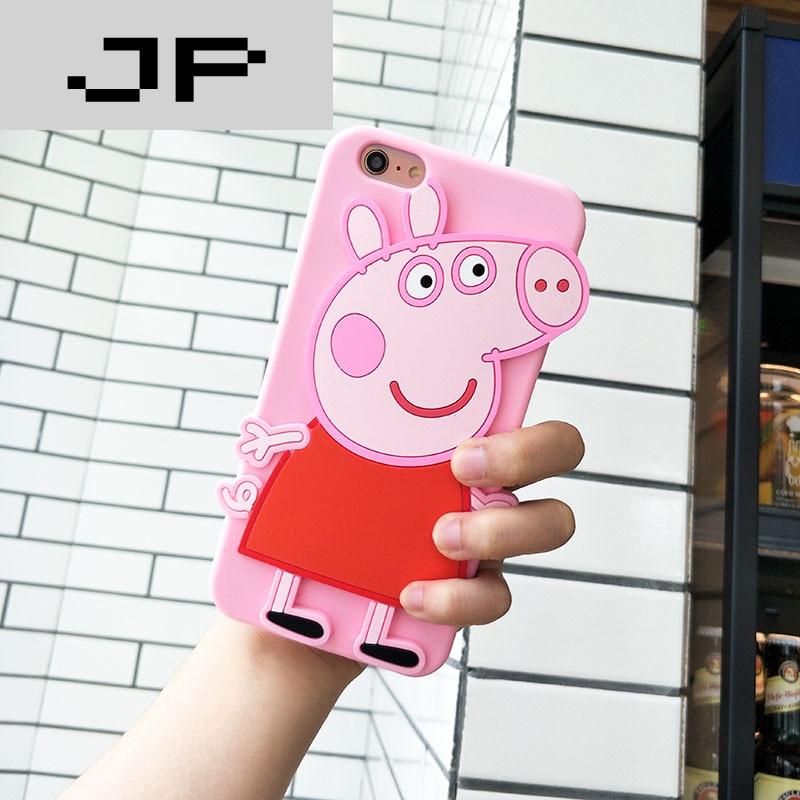 jp潮流品牌可爱萌物小猪佩奇手机壳iphone6s苹果7plus