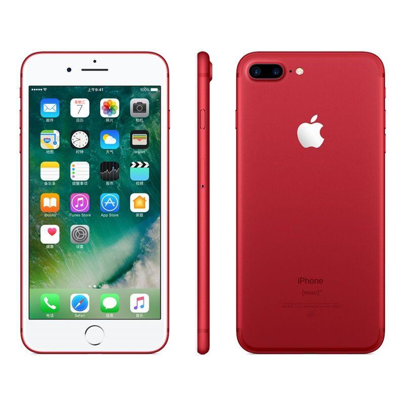 苹果手机_【二手95新】苹果/iphone 7 plus 红色 256gb 全网通4g 苹果手机 国行
