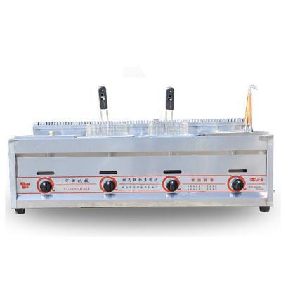 纳丽雅 燃气组合多用炉油炸机锅煤气四缸商用煮面炉多功能关东煮 标配