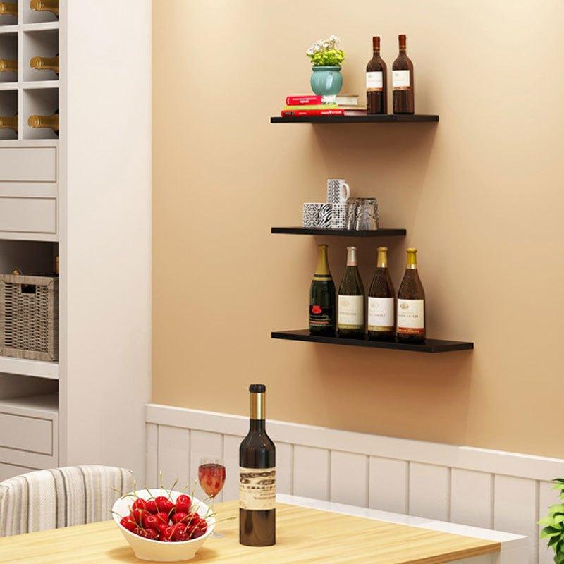 纯色创意墙上置物架壁挂客厅墙面书架隔板电视背景墙装饰架机顶盒架