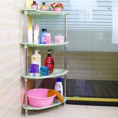 卫生间置物架浴室三层放脸盆架洗手间三角形厕所小架子落地收纳架卫浴用品生活日用浴室收纳层架厨卫浴面盆架