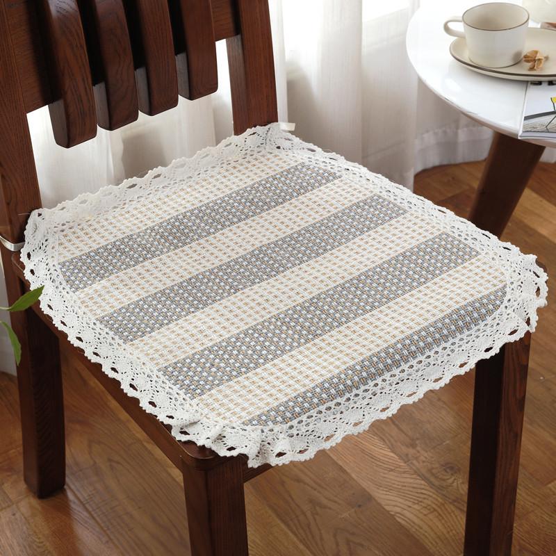 棉线编织椅子坐垫夏季薄款布艺餐椅垫办公室坐垫汽车座垫坐垫椅垫垫子