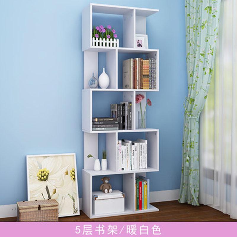 简易书架置物架现代简约儿童书架创意组合小书架落地学生书柜简约新款图片