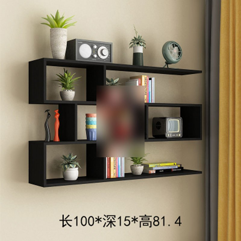 墙上置物架书架收纳挂壁吊柜阳台卧室厨房创意格子隔板墙面装饰架多层