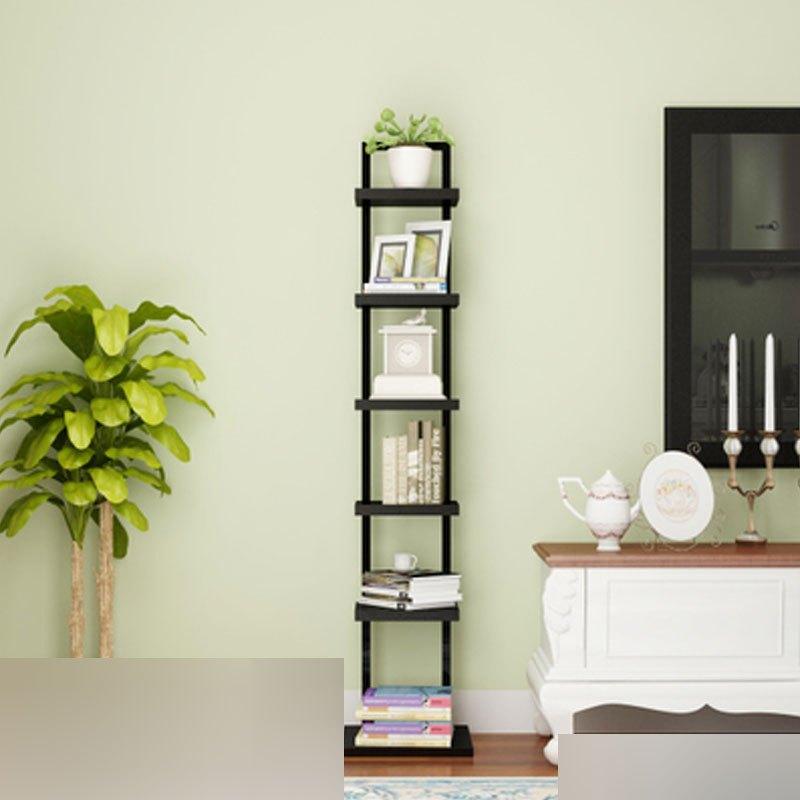 创意钢木小书架简易树形 现代简约置物架落地客厅卧室