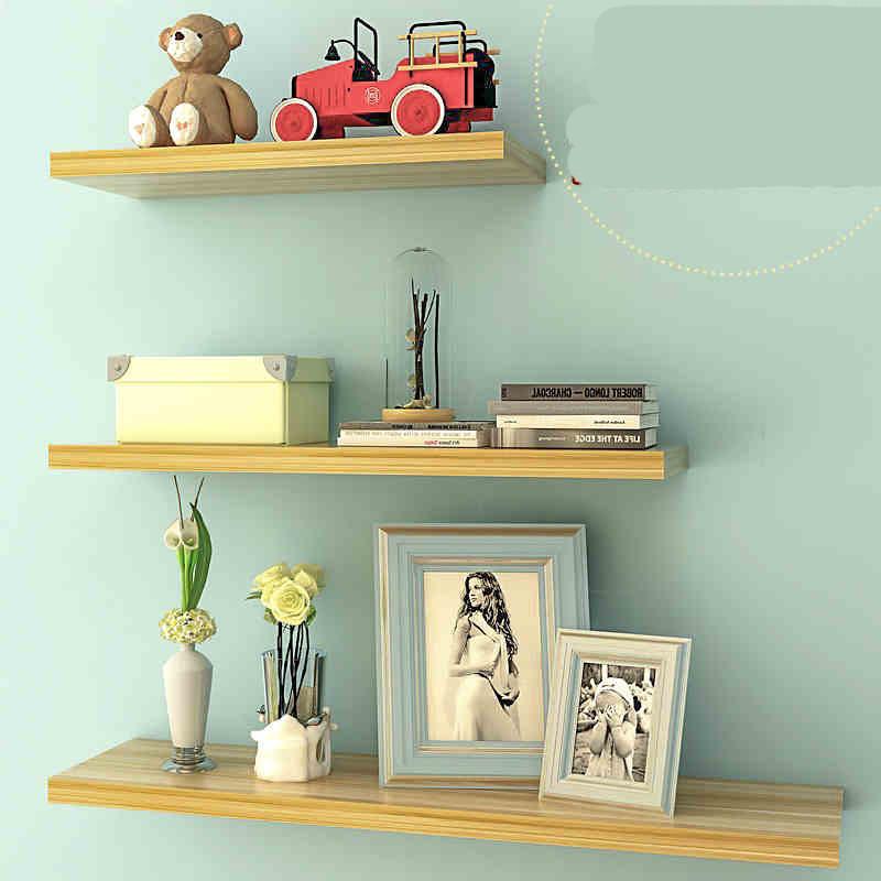 墙上置物架免打孔墙壁客厅一字隔板搁板壁挂墙面书架现代简约装饰生活