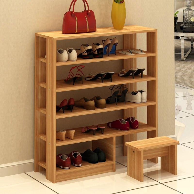 鞋架木质多层客厅木板家用现代经济简易小型木头鞋柜组装收纳多色多款