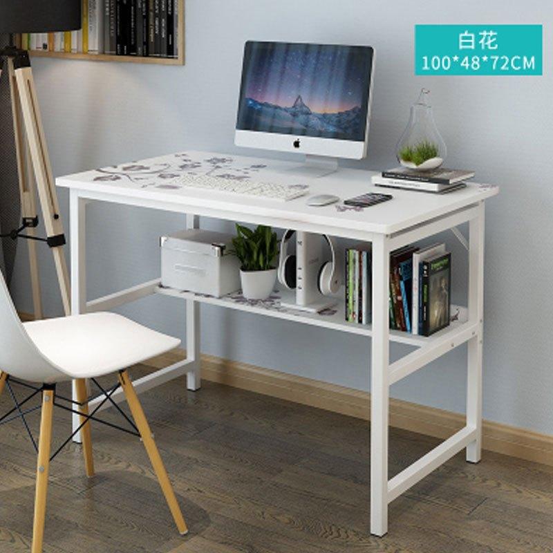 台式电脑桌家用笔记本桌子书桌简约床边桌写字免安装可折叠懒人桌小型