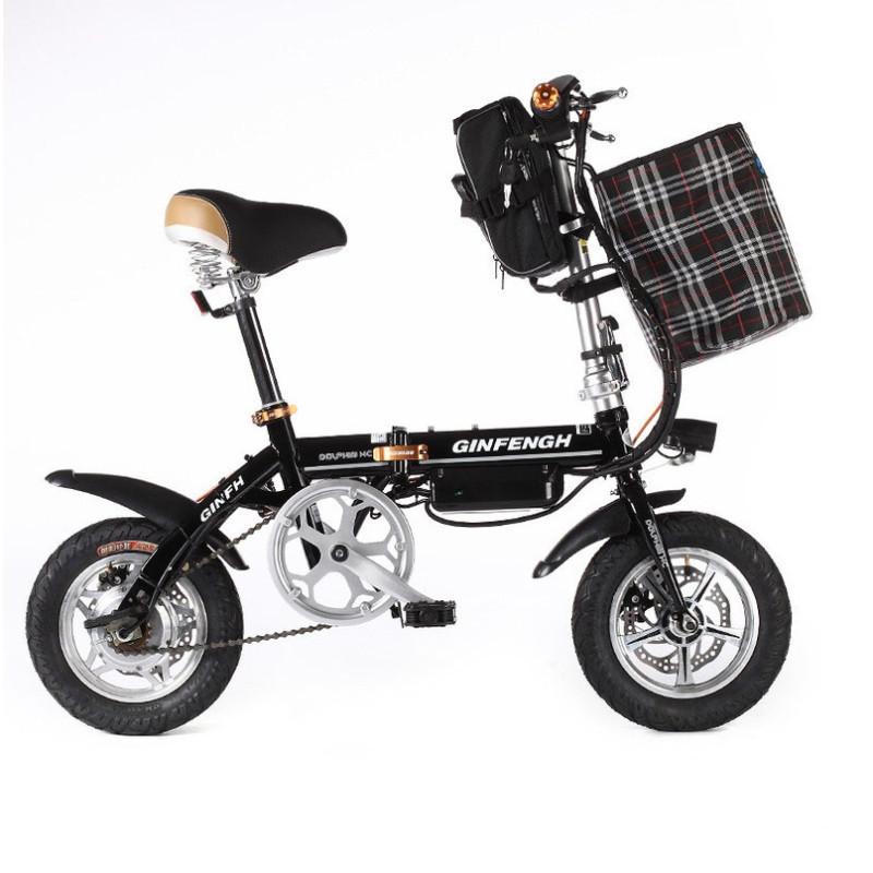 领飚电动自行车折叠电动车成人两轮双人女性小型电单车代驾锂电池