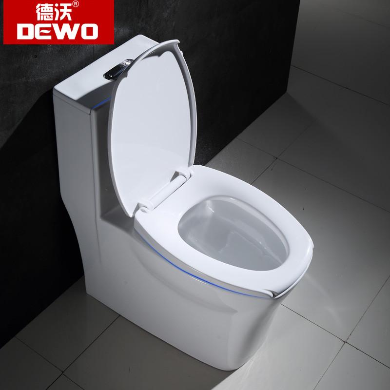 德沃(dewo)喷射虹吸式马桶盖 缓冲 节水防臭 卫生间 静音坐式陶瓷座便