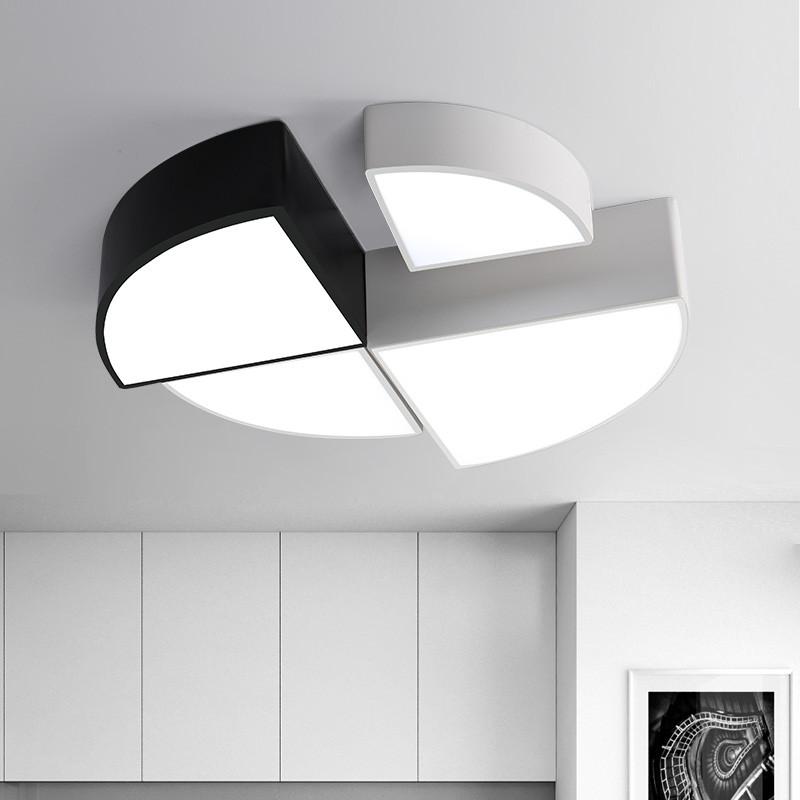led現代簡約極簡客廳餐廳臥室兒童房吸頂燈創意個性圓形 藝術燈具