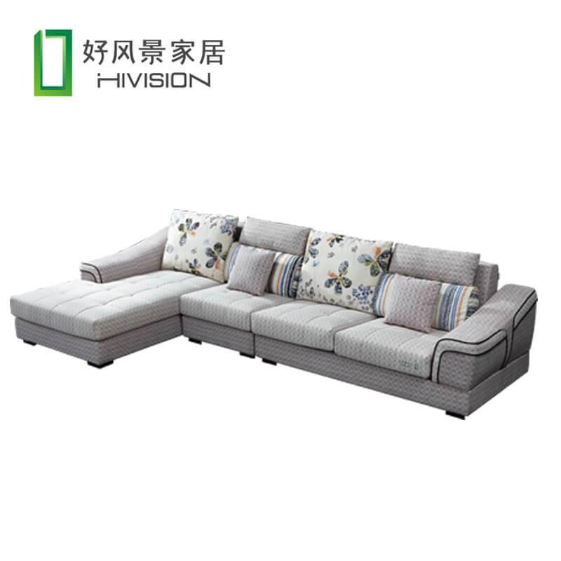 【爆】好风景家居 简约沙发可拆洗布艺沙发l 型沙发 大小户型沙发17n1