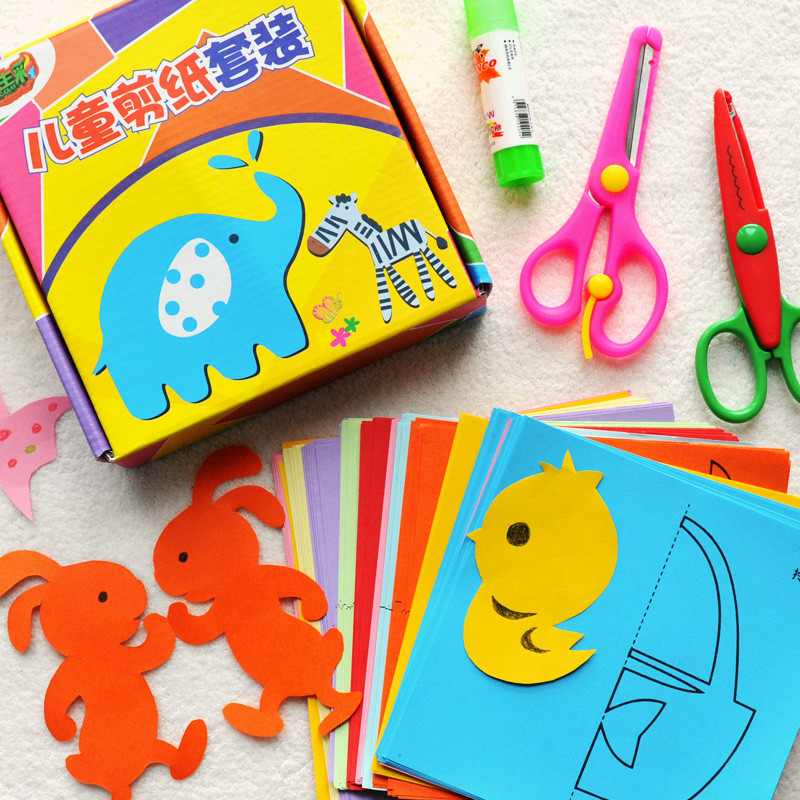 儿童剪纸手工制作材料幼儿园宝宝趣味益智diy玩具立体