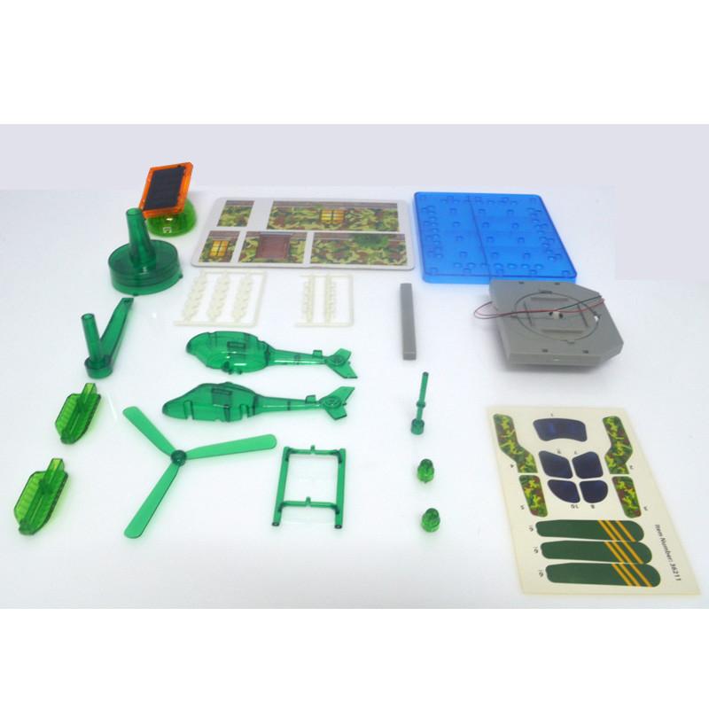 科技小制作儿童科普diy学习手工小发明实验材料拼装玩具直升飞机屋