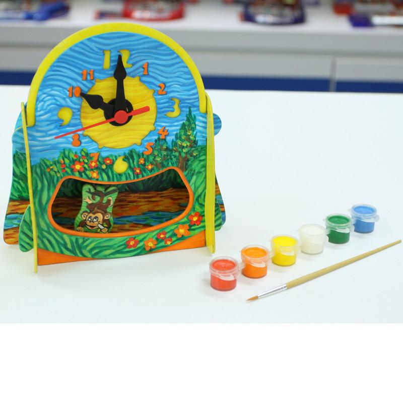 科技小制作小学科普diy益智学习手工小发明实验材料拼装玩具彩绘时钟