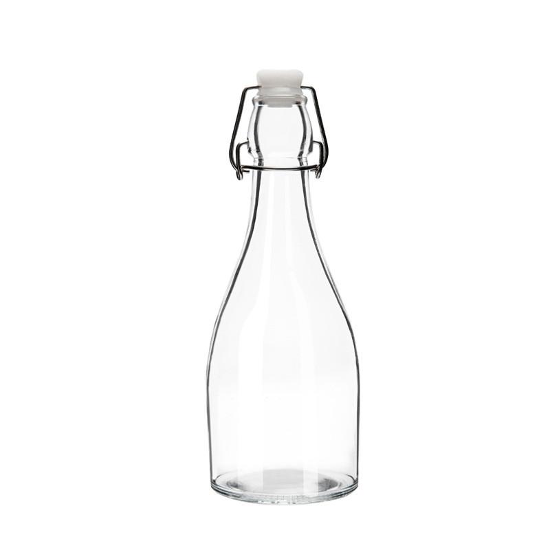 密封瓶透明玻璃瓶长颈小口厨房存储罐玻璃瓶酵素瓶发酵带盖储存瓶-500