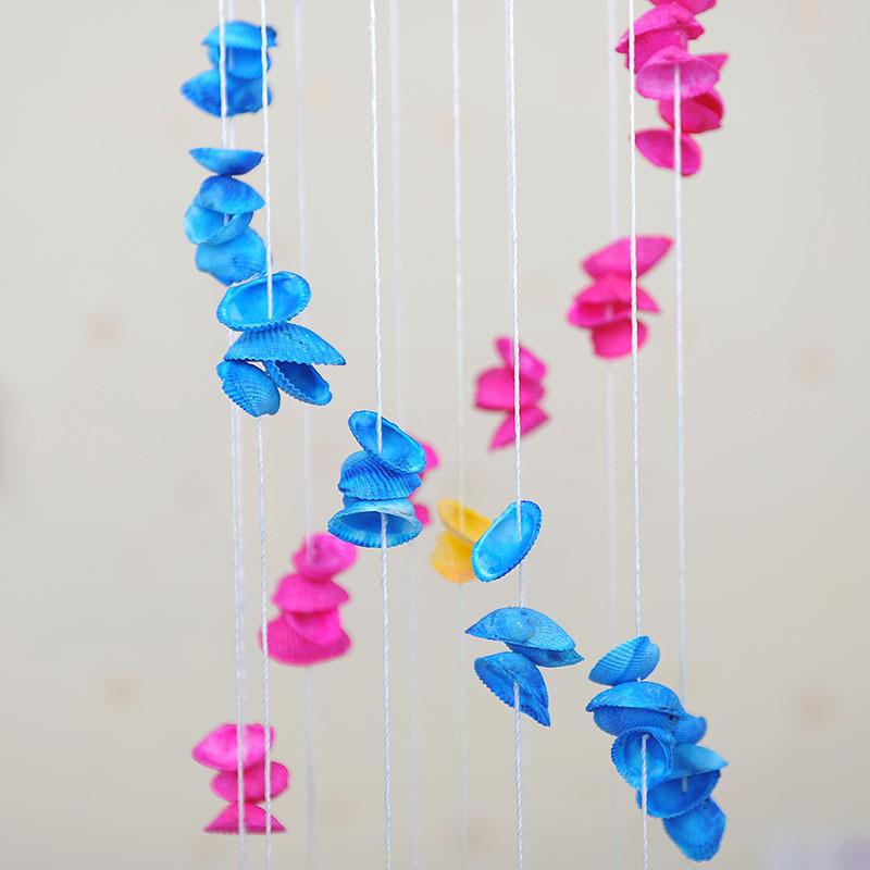 贝壳风铃家居吊饰田园风格工艺品情侣礼物生日节日礼品-颜色款式随机