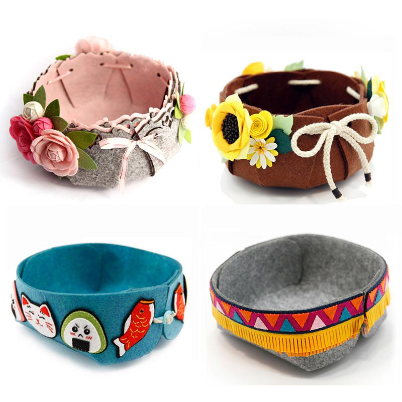 置物收纳盒手工diy收纳篮创意不织布手工制作布艺材料