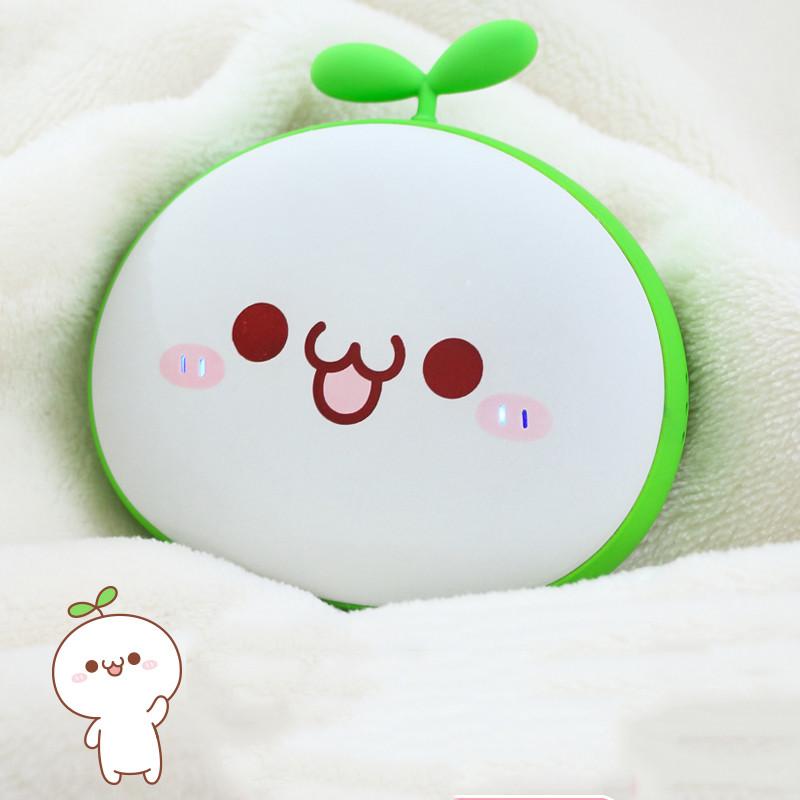 可爱usb充电宝暖手宝迷你随身小电热饼移动电源两用- 颜团子暖手饼