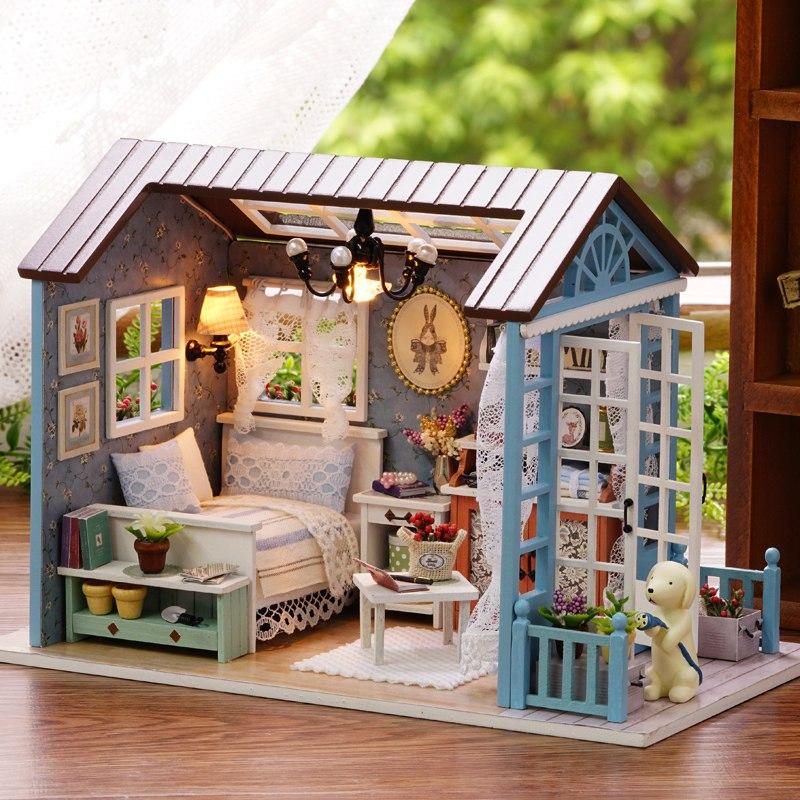 diy小屋手工制作房子拼装别墅模型玩具创意礼物-z7d森蓝时光 5工具