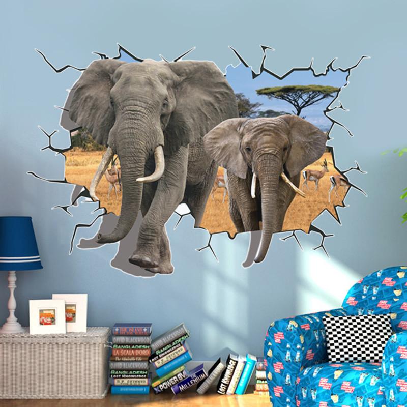 立体卡通贴纸动物3d墙贴浴室卫生间防水背景可移除贴纸画-熊猫