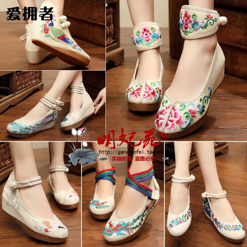 老北京布鞋女高跟