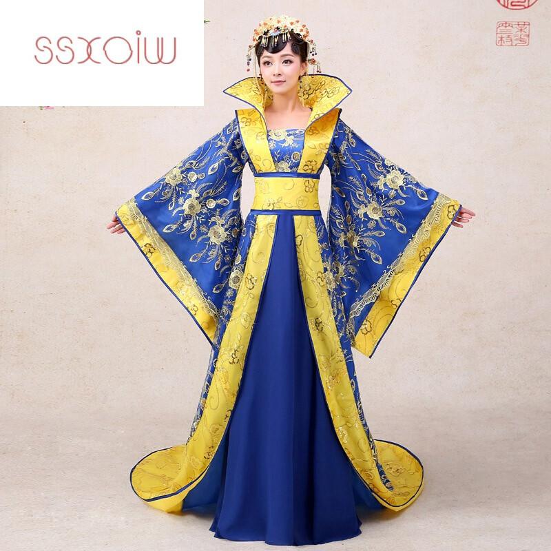 ssxoiw古装服装皇后贵妃拖尾2016新款公主古代舞台汉服摄影唐装女演出