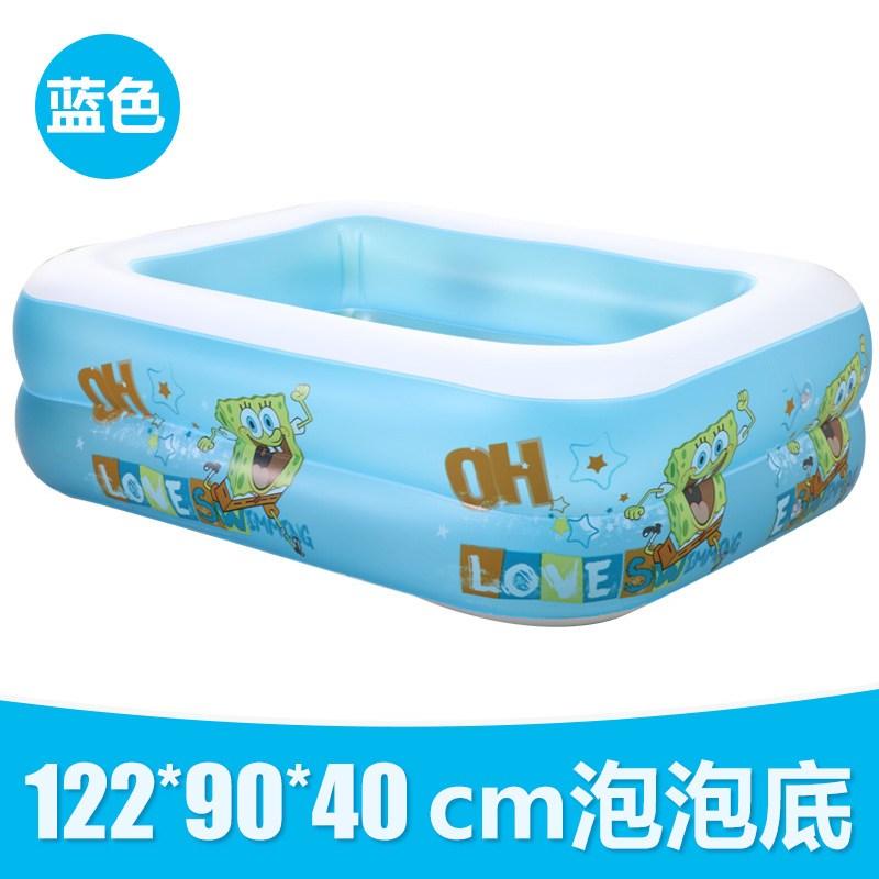诺澳 儿童游泳池海绵宝宝充气游泳池海洋球池泡泡底婴儿游泳池 120*90