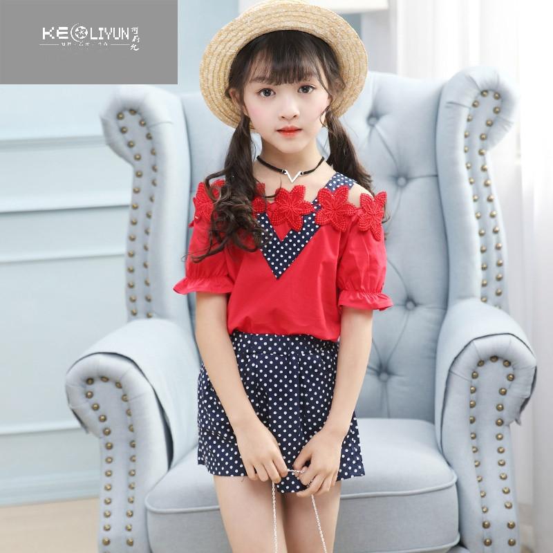 可莉允时尚品牌5到7周岁小孩子衣服8女童夏装9女孩10儿童11夏天12露