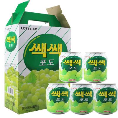 樂天(LOTTE) 葡萄汁238ml×12罐韓國進口 果味飲料果汁飲料聽裝