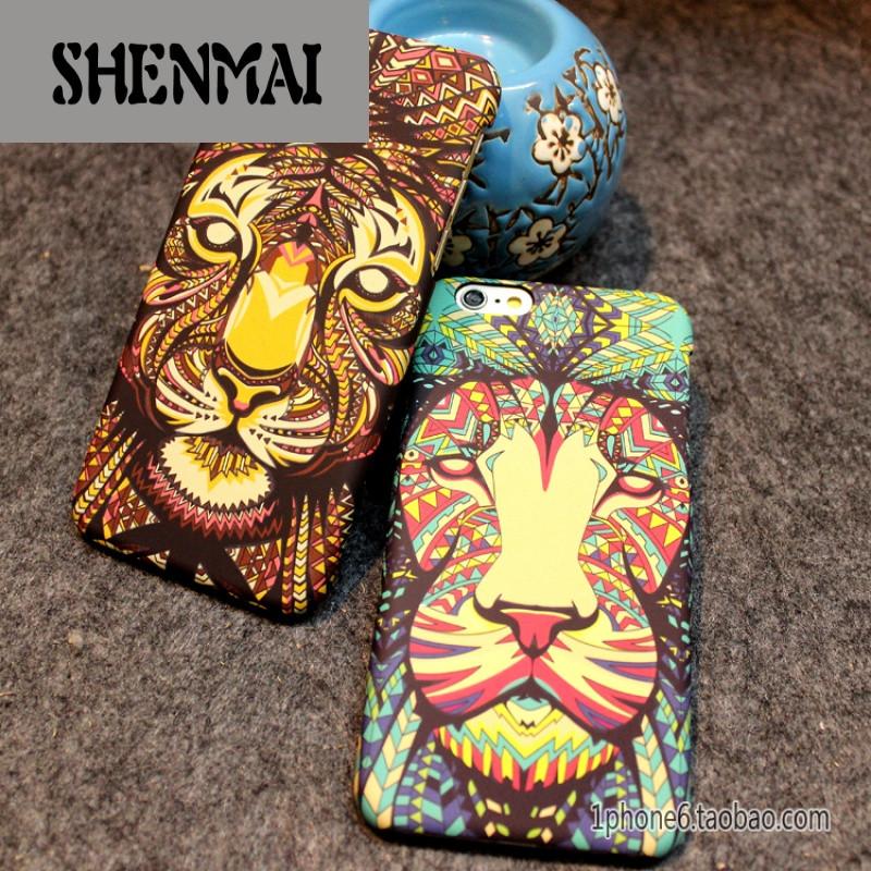 shm品牌酷炫熊苹果iphone7保护壳6s plus手机壳5se 4.7保护套