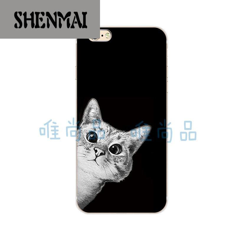 品牌iphone6/s/plus/5c苹果手机壳5/5s/5se保护套软硅胶简约可爱猫咪