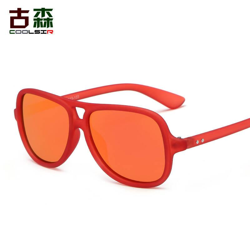2017年新款儿童镜偏光太阳眼镜墨镜时尚可爱镜青少年潮流1014炫彩