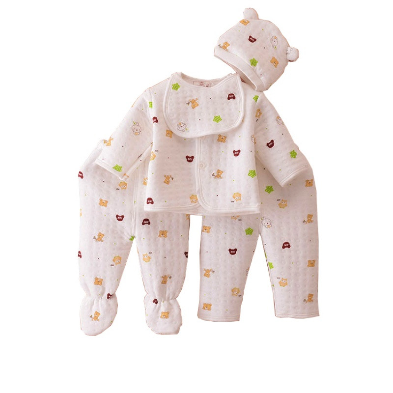 新款婴儿保暖内衣套装加厚纯棉0-3月新生儿和尚服秋冬刚出生宝宝衣服